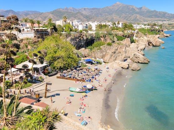 Praia de Nerja. Málaga, Espanha