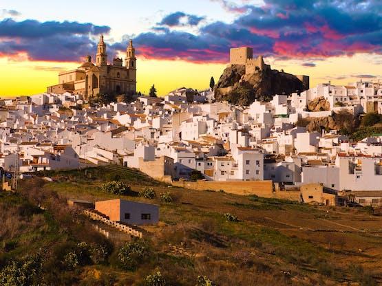Vista de Olvera, uma das províncias de Cádiz. Espanha