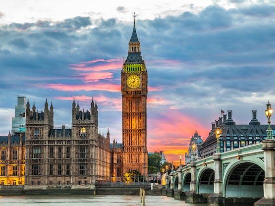 Big Ben e o Parlamento. Londres, Inglaterra