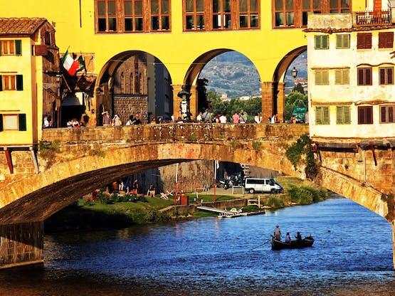 Ponte Vecchio e o Rio Arno. Florença, Itália